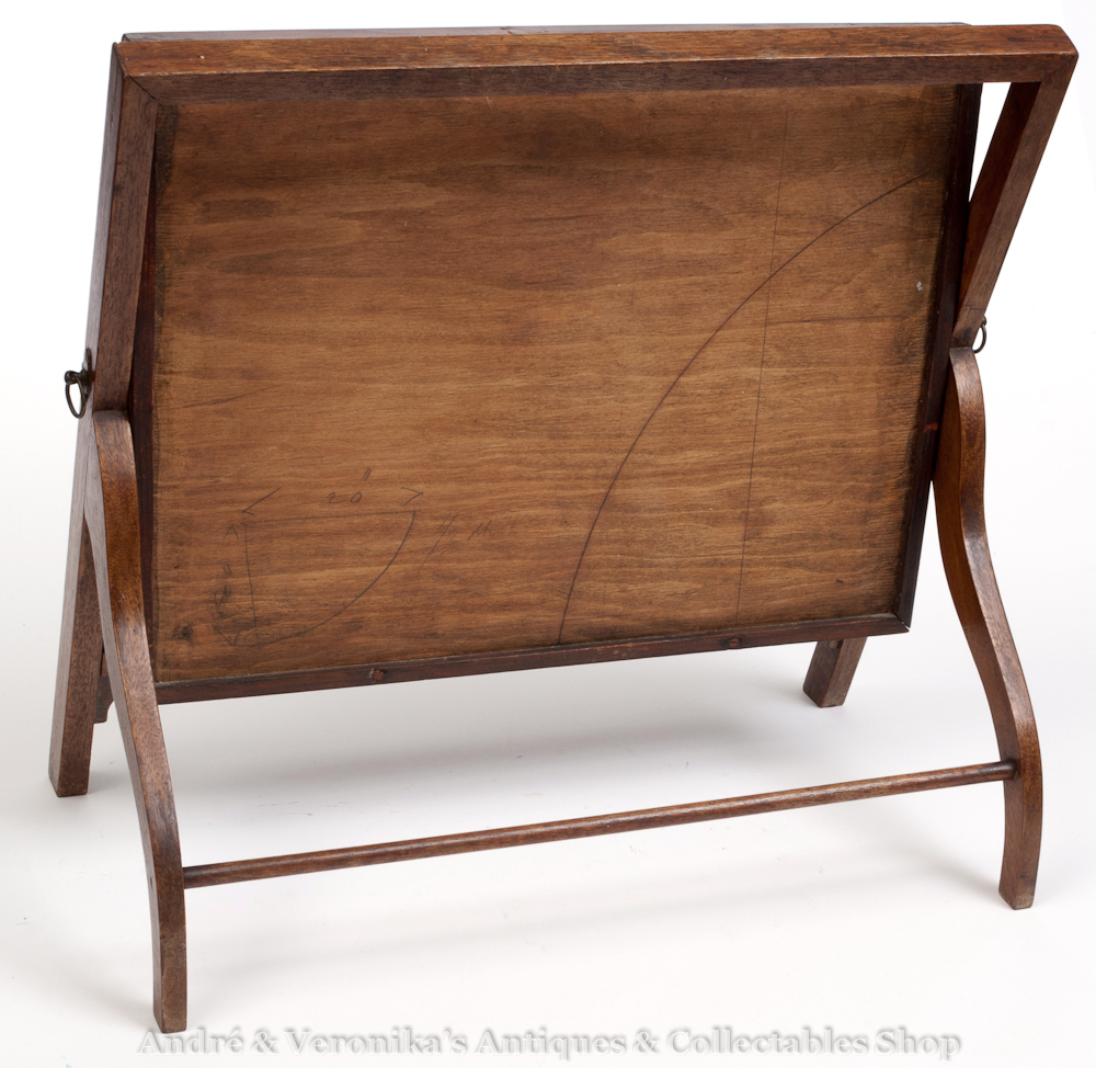 Antique Edwardian Dressing Table Vanity Mirror Mahogany