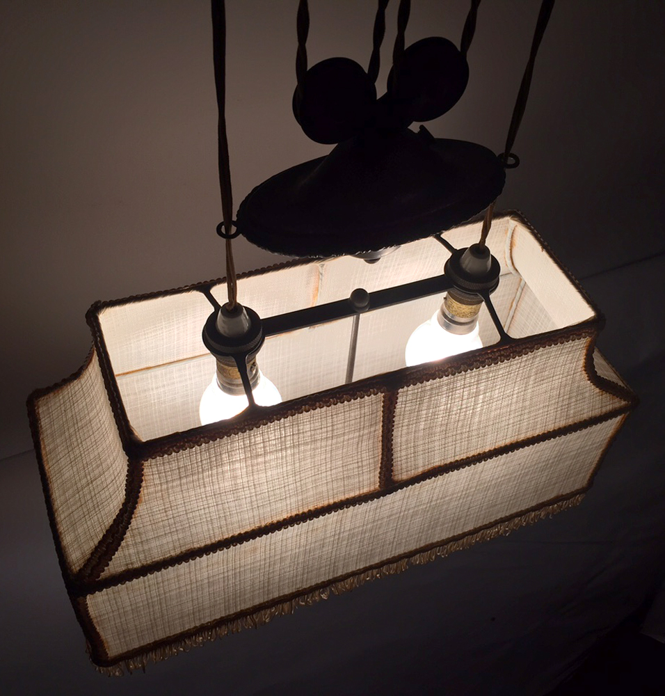 Vintage Pool Table Light Ebay: 1930's Pull Down Lamp Shade Vintage Ceiling Drop Pulley