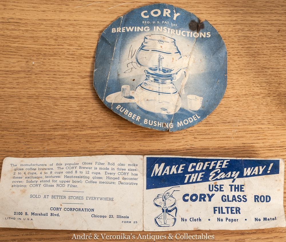 cory coffee maker instructions